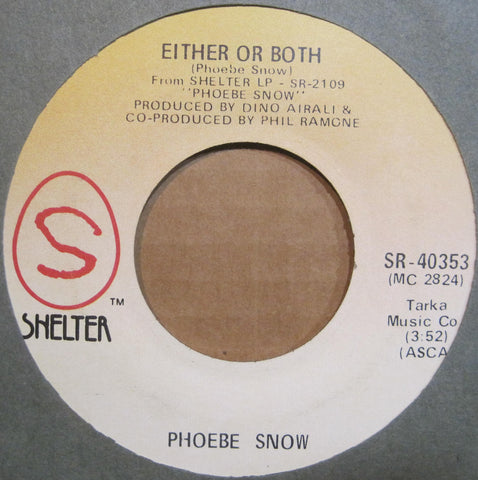 Phoebe Snow - Poetry Man b/w Either or Both