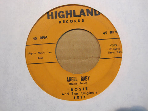 Rosie and The Originals - Angel Baby b/w Give Me Love