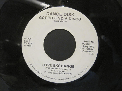Love Exchange - Got To Find a Disco  PROMO