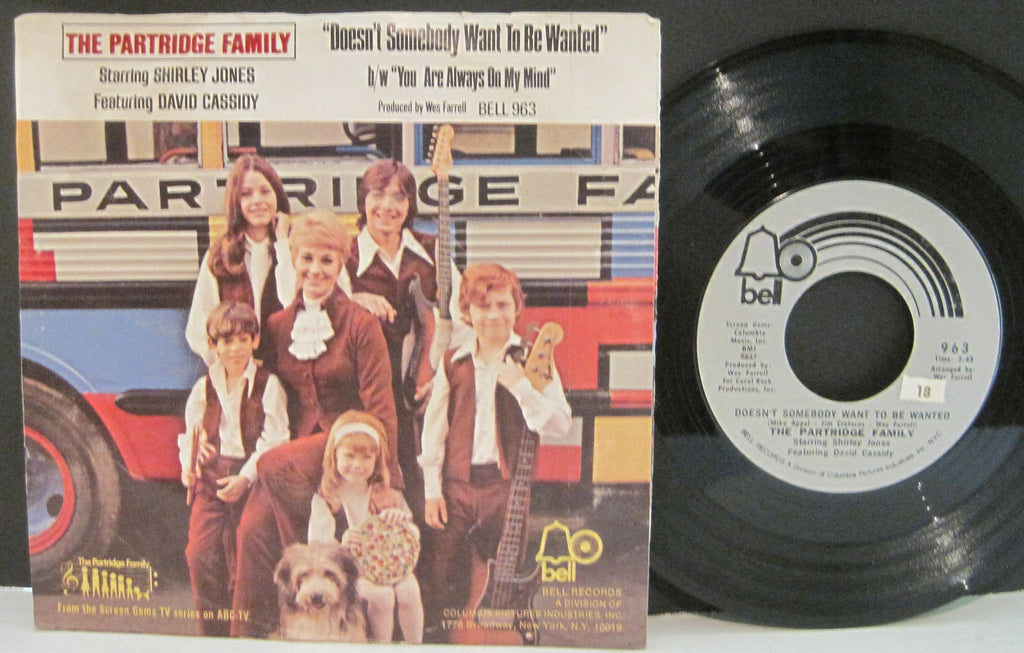 Partridge Family - Doesn't Somebody Want To Be Wanted b/w You Are Always on My Mind
