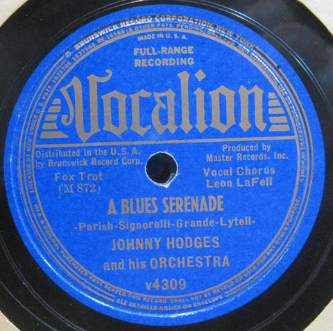 Johnny Hodges - Jitterbug's Lullaby b/w A Blues Serenade