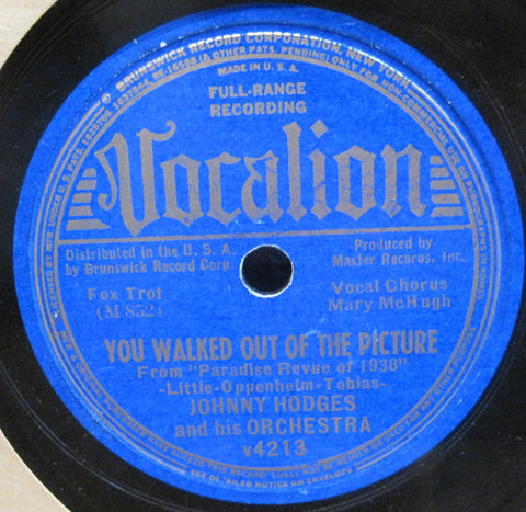 Johnny Hodges - You Walked Out of The Picture b/w Empty Ballroom Blues