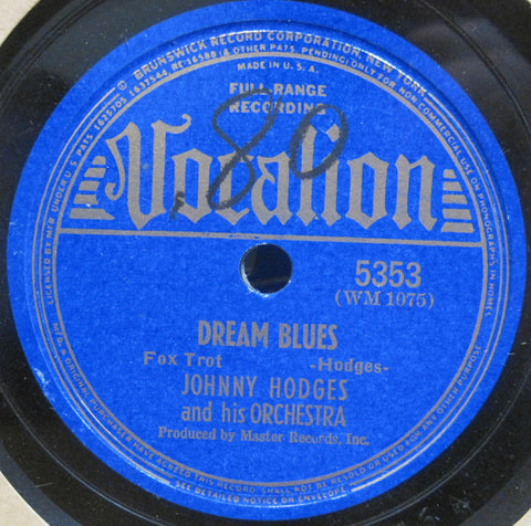 Johnny Hodges - Dream Blues b/w I Know What You Do