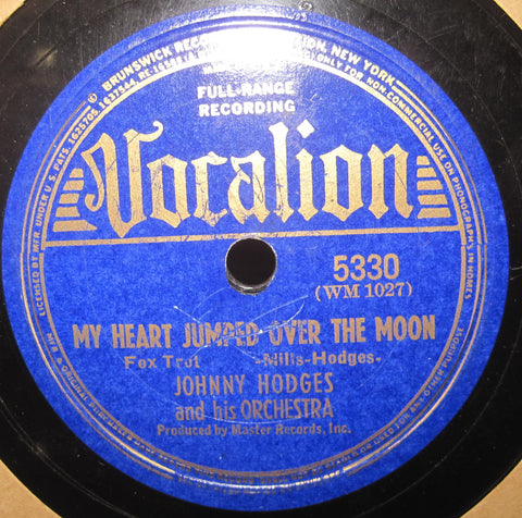 Johnny Hodges - My Heart Jumped Over The Moon b/w Truly Wonderful