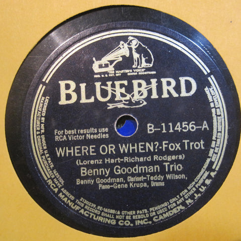Benny Goodman Trio - Where or When? b/w I Cried For You