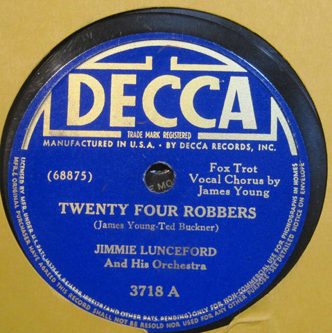 Jimmie Lunceford - Twenty Four Robbers b/w I Had a Premonition