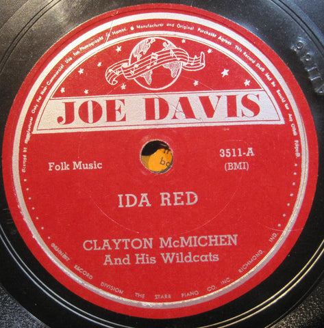 Clayton McMichen - Ida Red b/w Old Joe Clarke