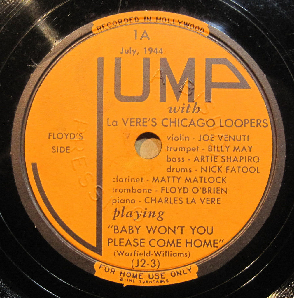 La Vere's Chicago Loopers - Baby Won't You Please Come Home b/w Subdivided in F