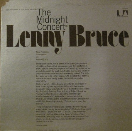 Lenny Bruce - The Midnight Concert