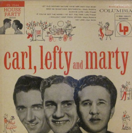 Smith, Frizzell, Robbins - Carl, Lefty and Marty 10""