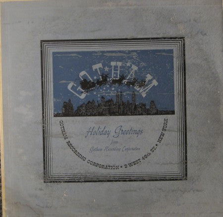 Gotham Records - Holiday Greetings 1951