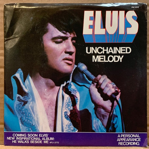 Elvis Presley - Unchained Melody / Softly As I Leave You w/ PS