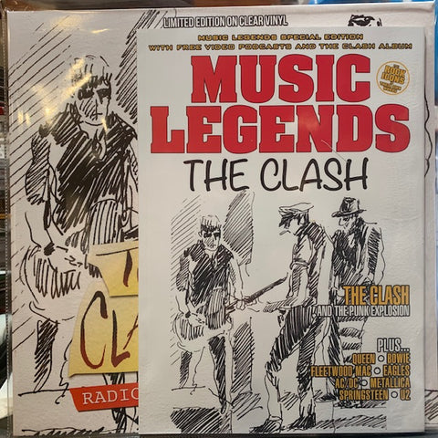 Clash - Radio Clash From Tokyo Live 1982 on import clear vinyl w/ free magazine