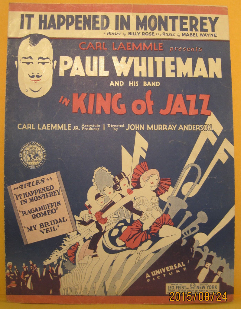 It Happened in Monterey - 1930 Sheet Music - Paul Whiteman