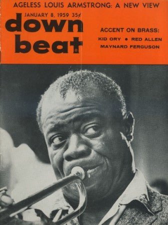 Down Beat - Jan 8, 1959/ Louis Armstrong