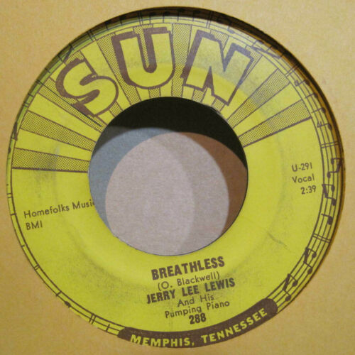 Jerry Lee Lewis - Breathless b/w Down The Line