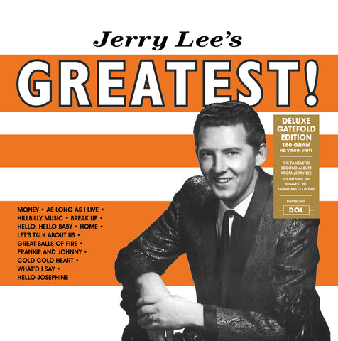Jerry Lee Lewis - Jerry Lee's Greatest! 180g LP w/ gatefold