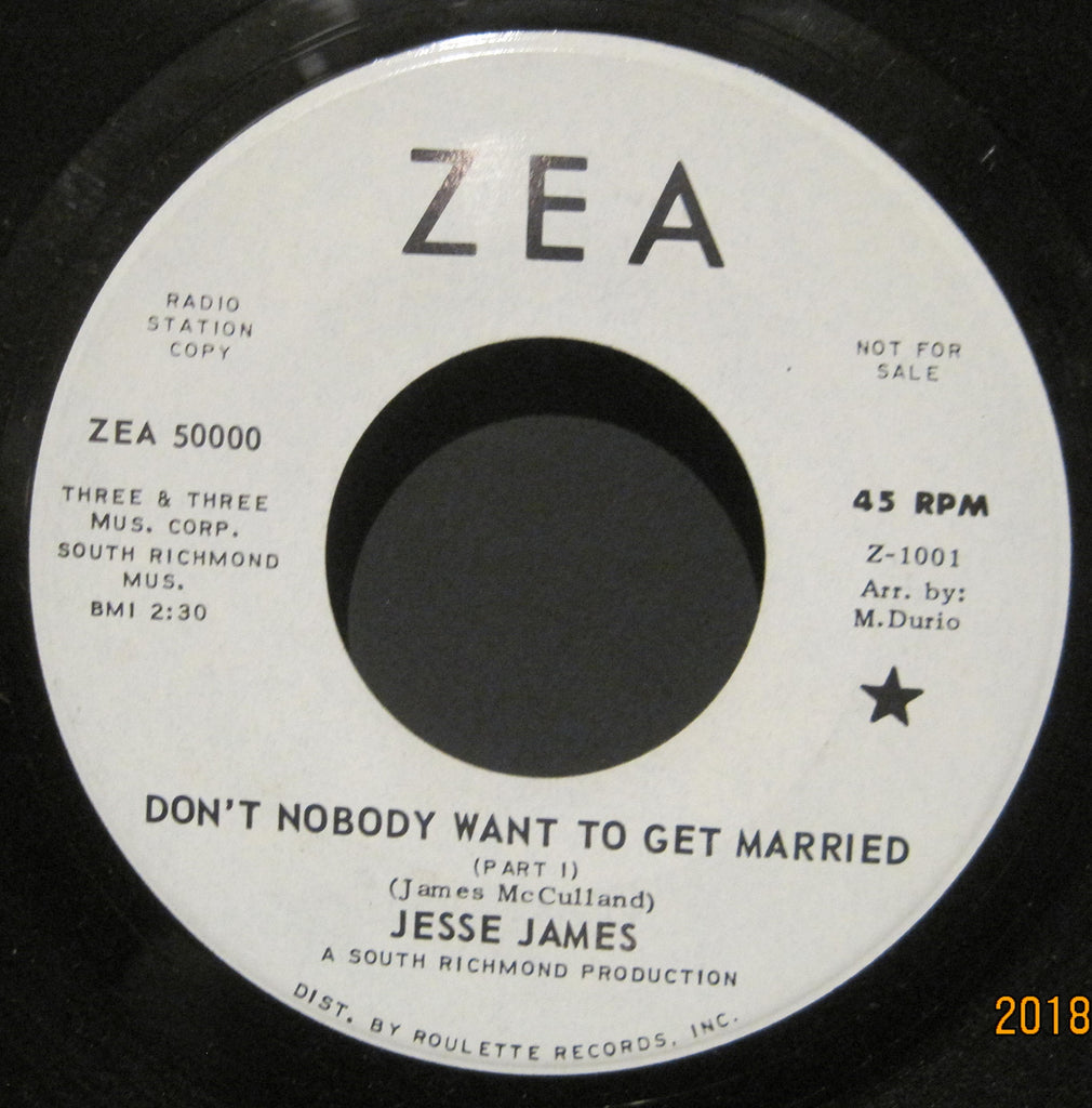 Jesse James - Don't Nobody Want To Get Married b/w Don't Nobody Want To Get Married  PROMO