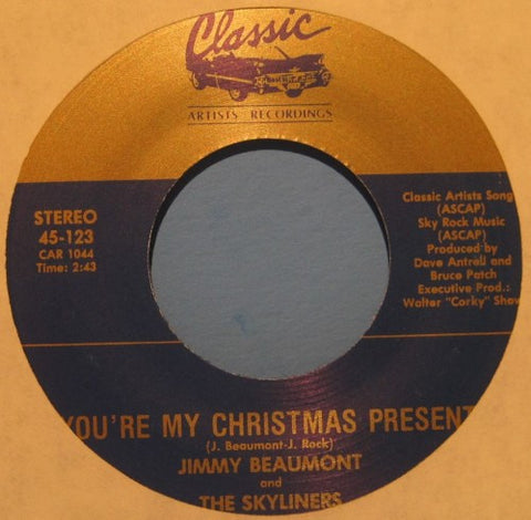 Jimmy Beaumont & The Skyliners - You're My Christmas Present/ Another Lonely New Years Eve