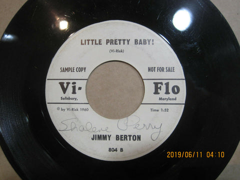 Jimmy Berton - Little Pretty Baby b/w What Good is Love  PROMO