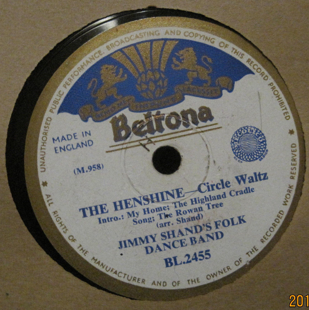 Jimmy Shand's Folk Dance Band - The Henshire b/w The Gie Gordons Dance