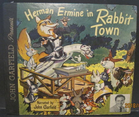 John Garfield Presents Hermine Ermine in Rabbit Town Mercury 78rpm Album
