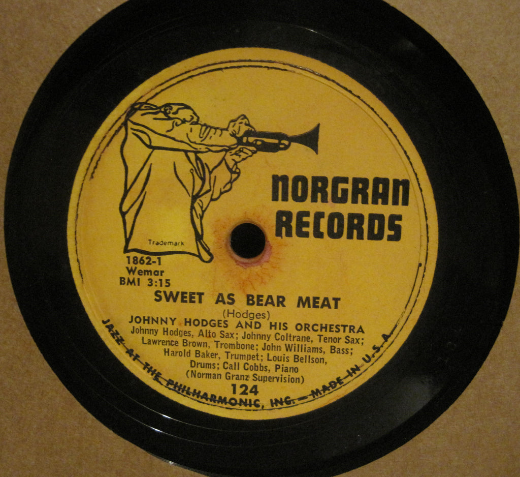 Johnny Hodges w/ Johnny Coltrane - Sweet As Bear Meat b/w Skokiaan