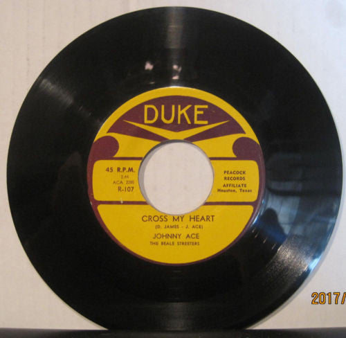 Johnny Ace & The Beale Streeters - Cross My Heart b/w Angel