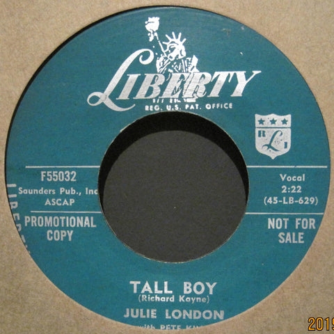 Julie London - Tall Boy b/w Now Baby Now  PROMO