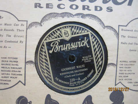 Kessinger Brothers - Goodnight Waltz b/w Wednesday Night Waltz