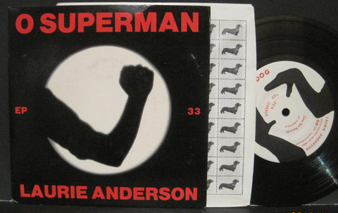 Laurie Anderson - O Superman b/w Walk The Dog -  Ep PS