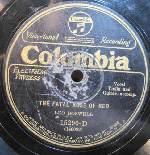 Leo Boswell - The Fatal Rose of Red b/w Two Little Girls in Red