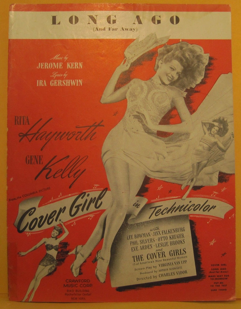 Long Ago - 1944 Sheet Music - Rita Hayworth