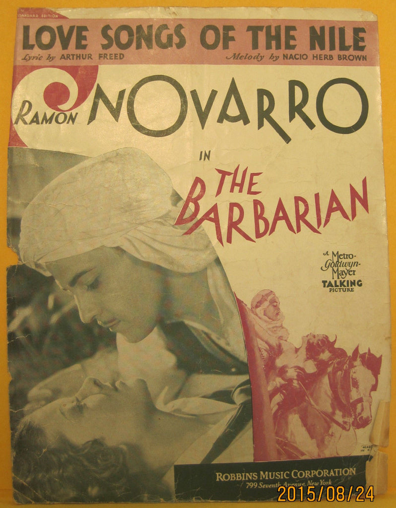 Love Song of The Nile - 1933 Sheet Music - Ramon Navarro