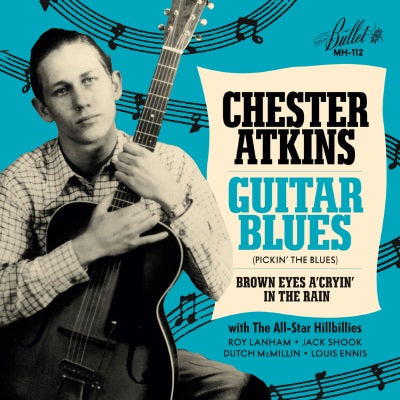 Chet Atkins - Guitar Blues / Brown Eyes a'Cryin' in the Rain - Blue Vinyl