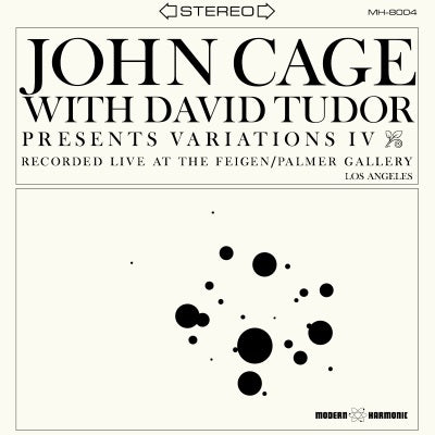 John Cage - Variations IV - with David Tudor - on Limited Clear Vinyl