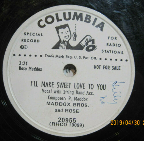 Maddox Brothers and Rose - Wedding Blues b/w I'll Make Sweet Love To You