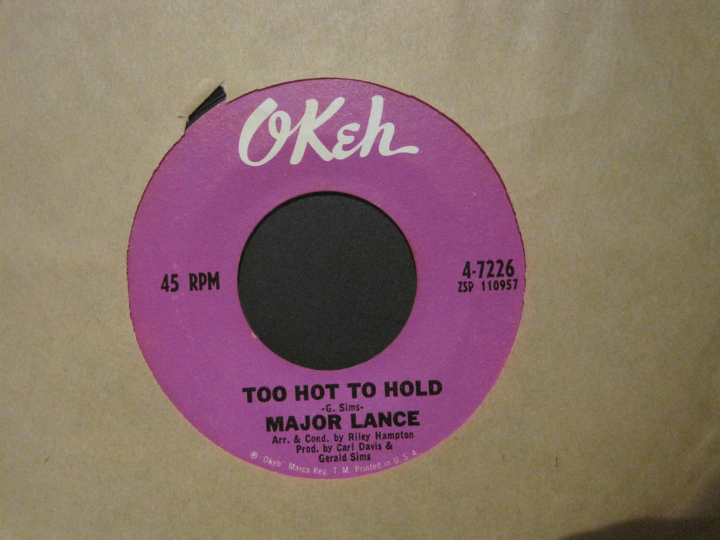Major Lance - Too Hot To Hold b/w Dark and Lonely