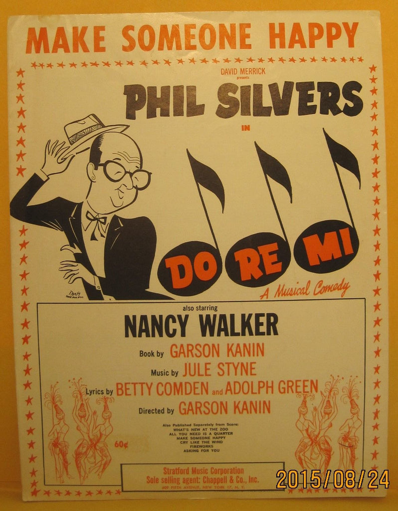 Make Someone Happy - 1960 Sheet Music - Phil Silvers