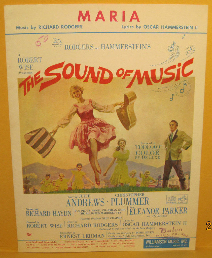 Maria - 1959 Sheet Music - Sound of Music