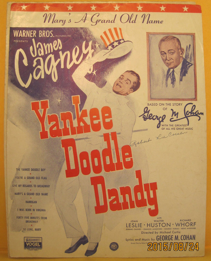 Mary's a Grand Old Name - 1932 Sheet Music James Cagney Yankee Doodle Dandy
