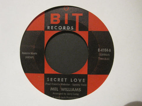 Mel Williams - Secret Love b/w Easy To Say
