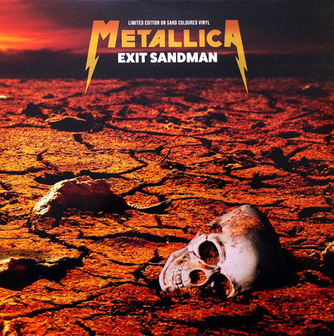 Metallica - Exit Sandman - Live broadcasts on import sand-colored vinyl
