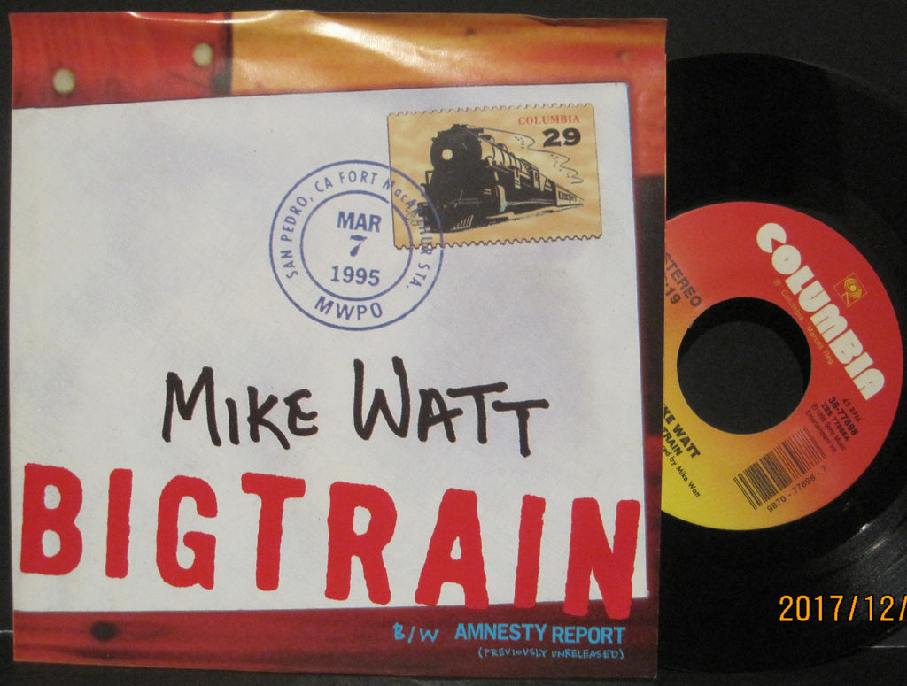 Mike Watt - Big Train b/w Amnesty Report