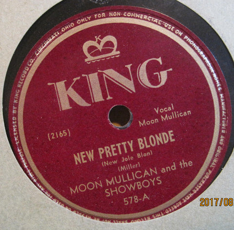 Moon Mullican - New Pretty Blonde b/w When A Soldier Knocks and Finds Nobody Home