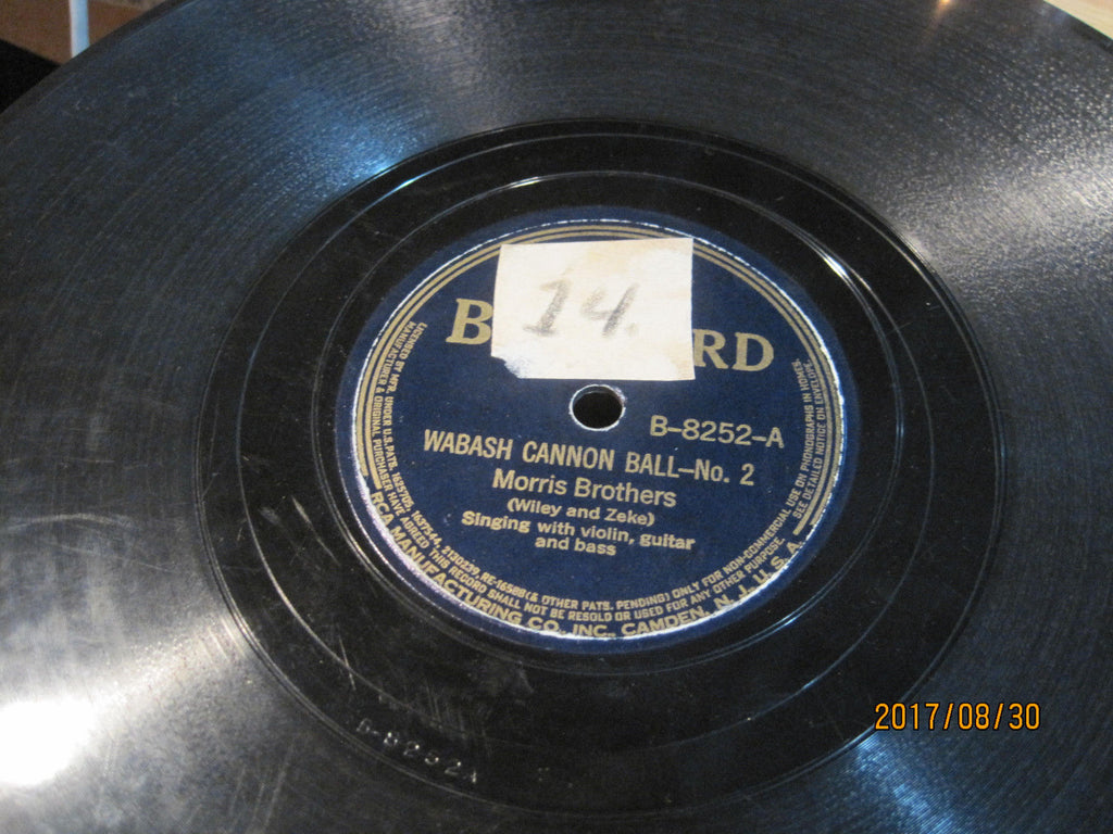 Morris Brothers - Wabash Cannonball No. 2 b/w One Little Word