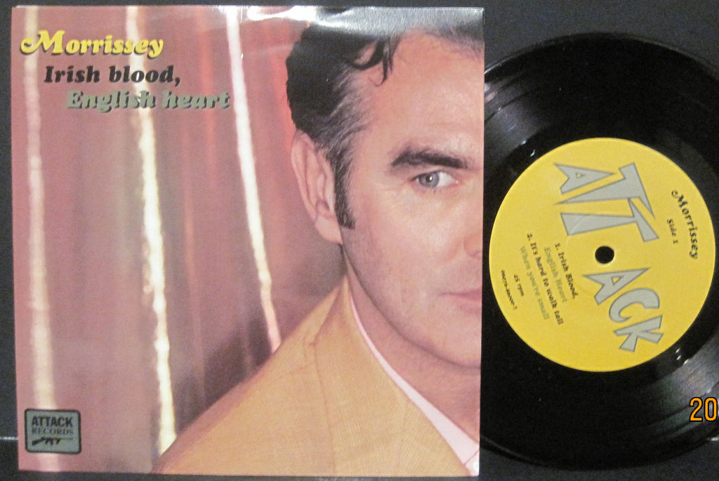 Morrissey - Irish Blood, English Heart b/w It's Hard To Walk Tall