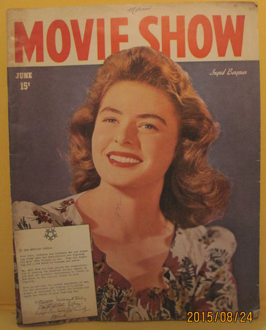 Movie Show Magazine 1945 Ingrid Bergman
