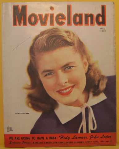 Movieland Magazine 1945 Ingrid Bergman