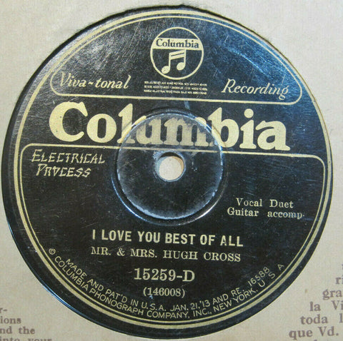 Mr. & Mrs. Hugh Cross - I Love You Best of All b/w You're As Welcome As The Flowers In May